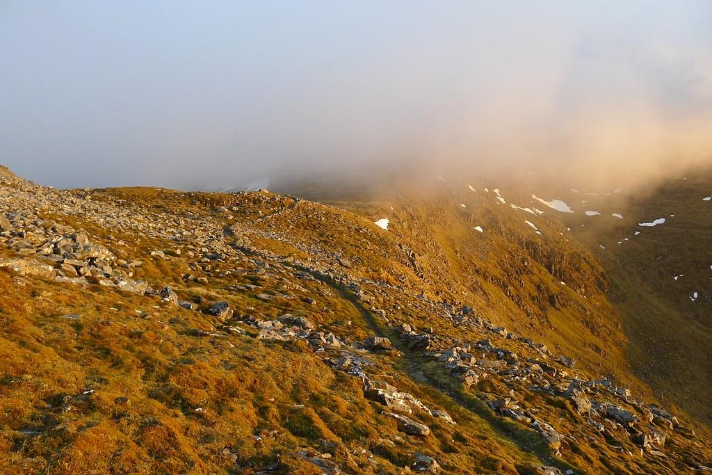 The path to Beinn Liath Mhor Fannaich