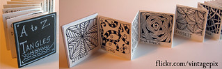 A to Z Tangles accordion book | by vintagepix