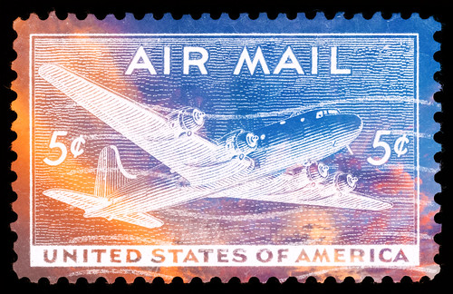 Vibrant US Air Mail Stamp | by Bold Frontiers