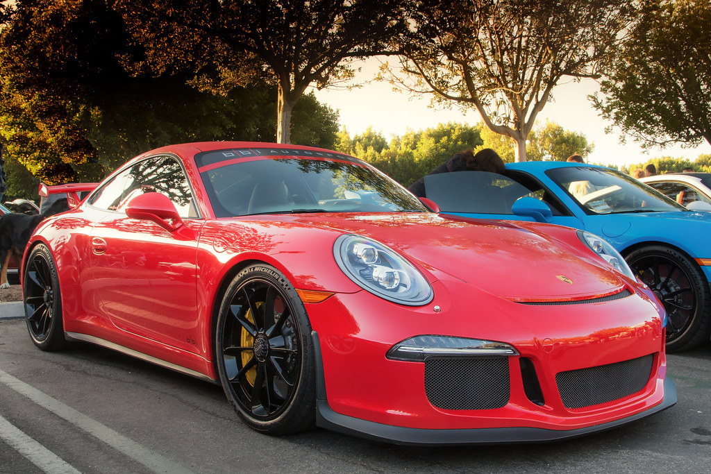 Red Porsche 991 Gt3 Taken At Irvine Cars And Coffee In Sou Flickr