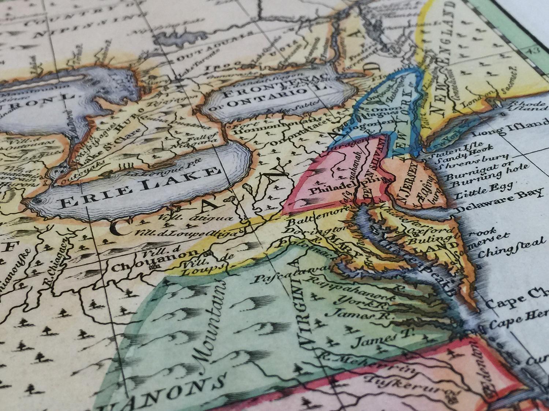 Map: 1752 Bowen's close up of Louisiana
