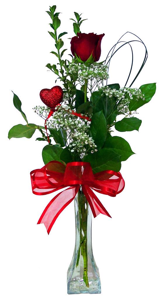 Love Expressions Single Red Rose Bud Vase Sparks Florist V Flickr