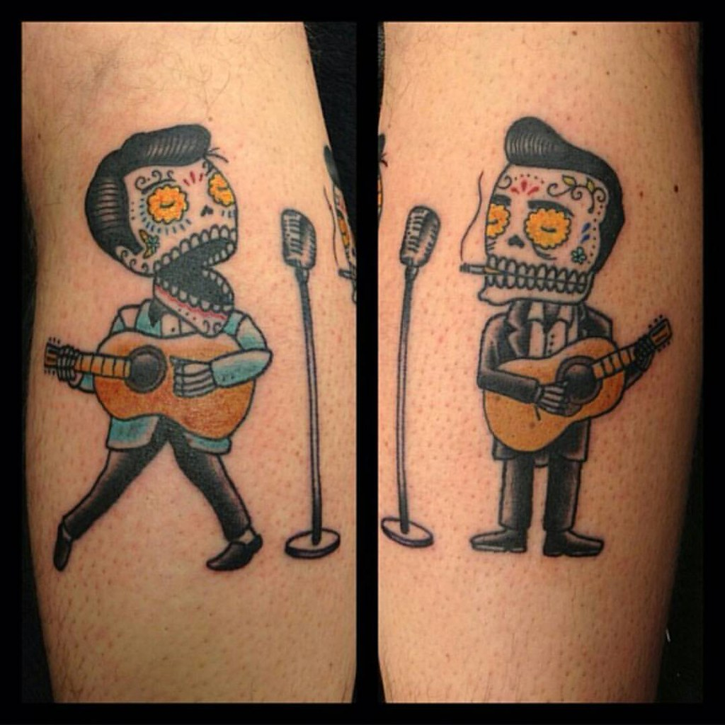 A Johnny Cash Elvis Duet Tattoo Posted By Petenobro Cal Flickr