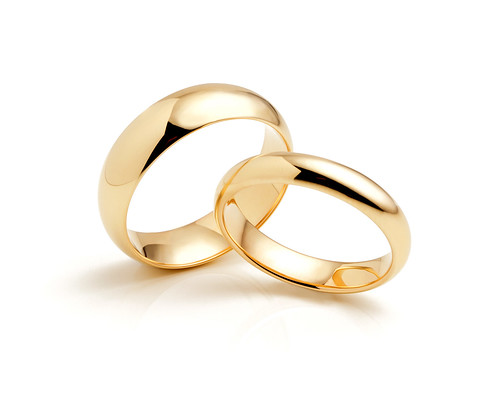 Plain Wedding Rings - Yellow Gold Pair of Rings | by Serendipity Diamonds