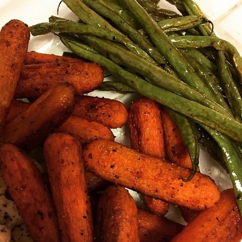 Balsamic carrots and coconut oil green beans | by laurensweb