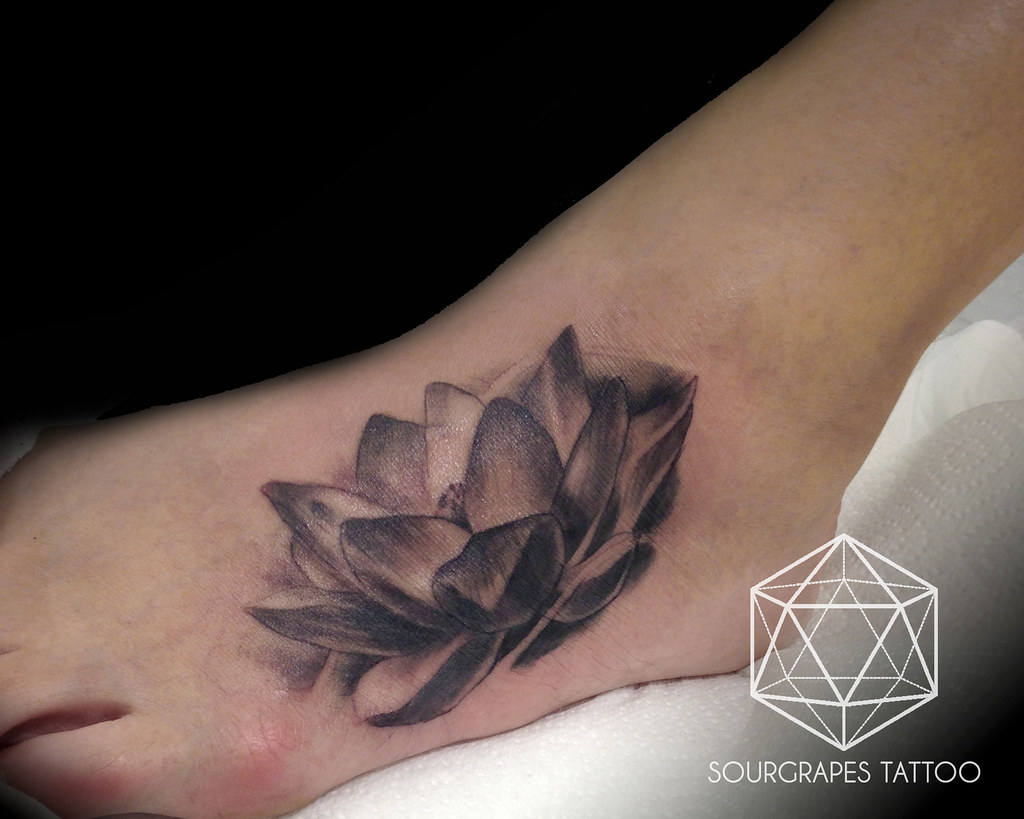 Lotus Flower Realistic Black And Grey Tattoo A Collection Flickr