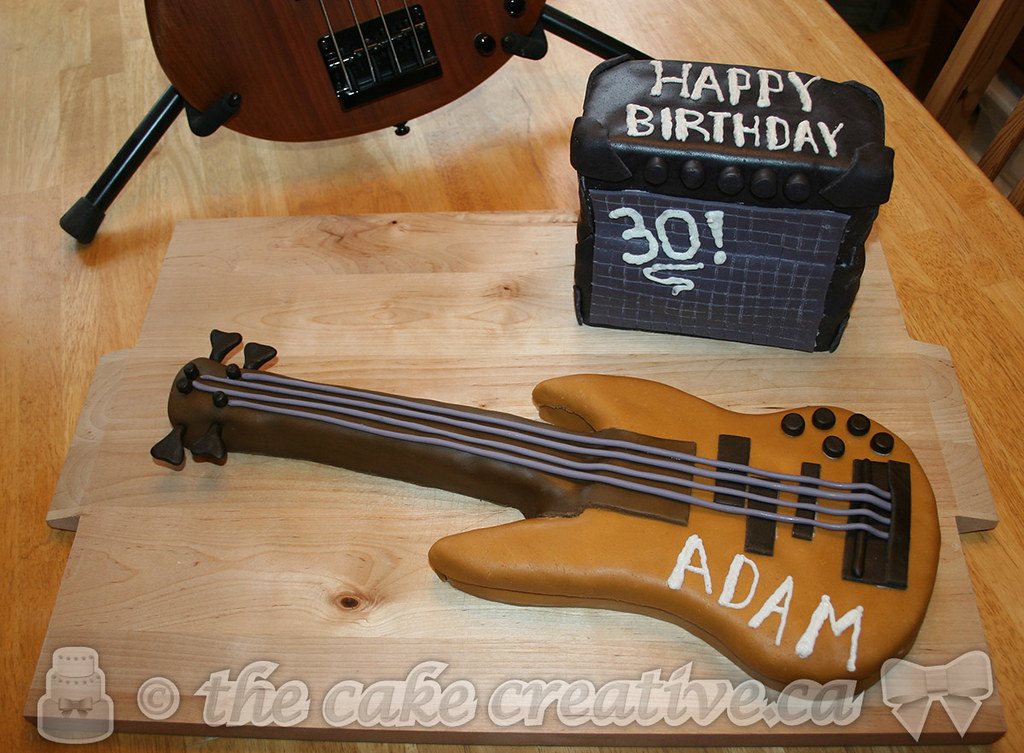 Bass Guitar Birthday Cake Guitar was butter pecan cake am Flickr