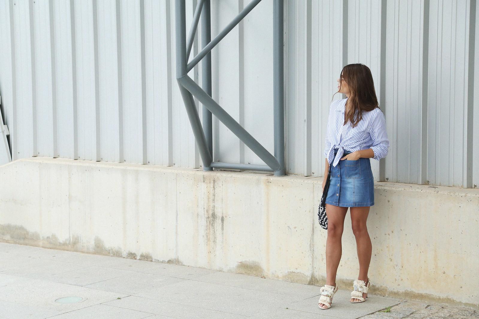 jessie chanes seams for a desire denim skirt stripes shirt-3