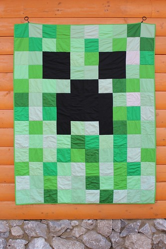 Minecraft Creeper Quilt | by CoraQuilts~Carla