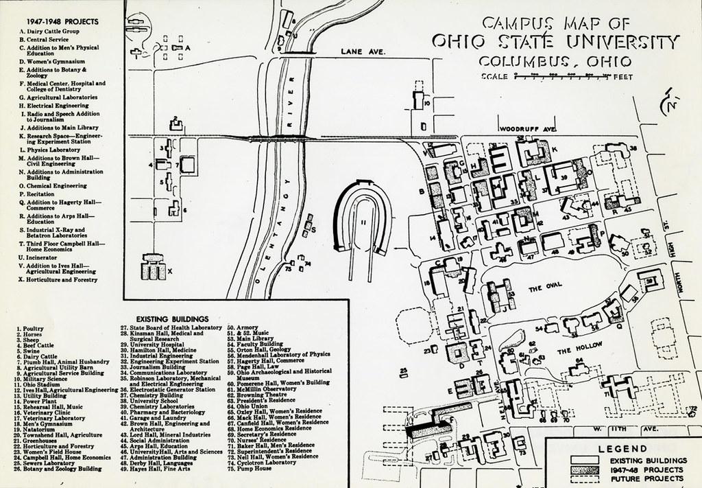 1947 Campus Map Ohio State University Campus Map 1947 Ph Flickr