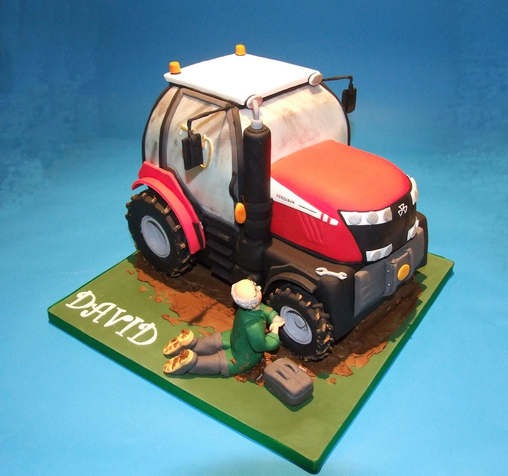 Tractor Cake For A Farmers 70th Birthday Made From Fonda Flickr