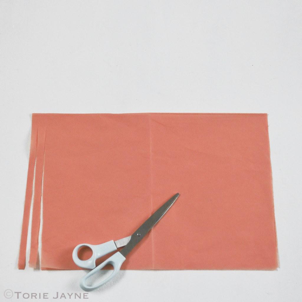 Tissue paper tassel tutorial -  Tissue Paper Tassel Garland Tutorial 3 By Toriejayne