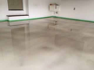 We finished s designer epoxy garage floor today in Forest ...