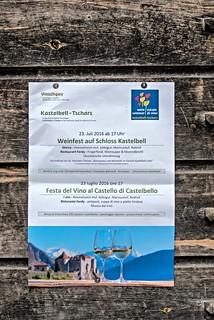 Plakat des Weinfestes