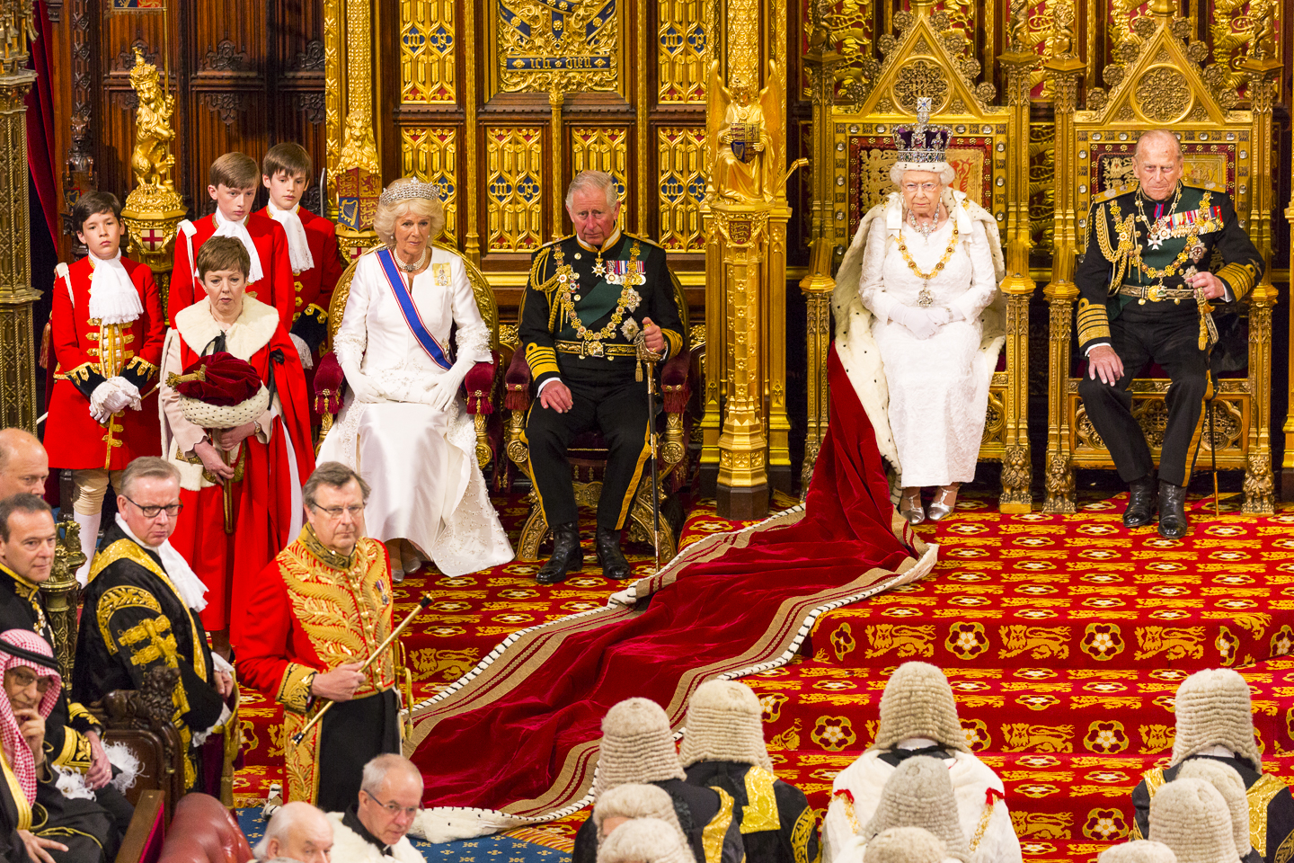 Royal Party enter the Lords chamber