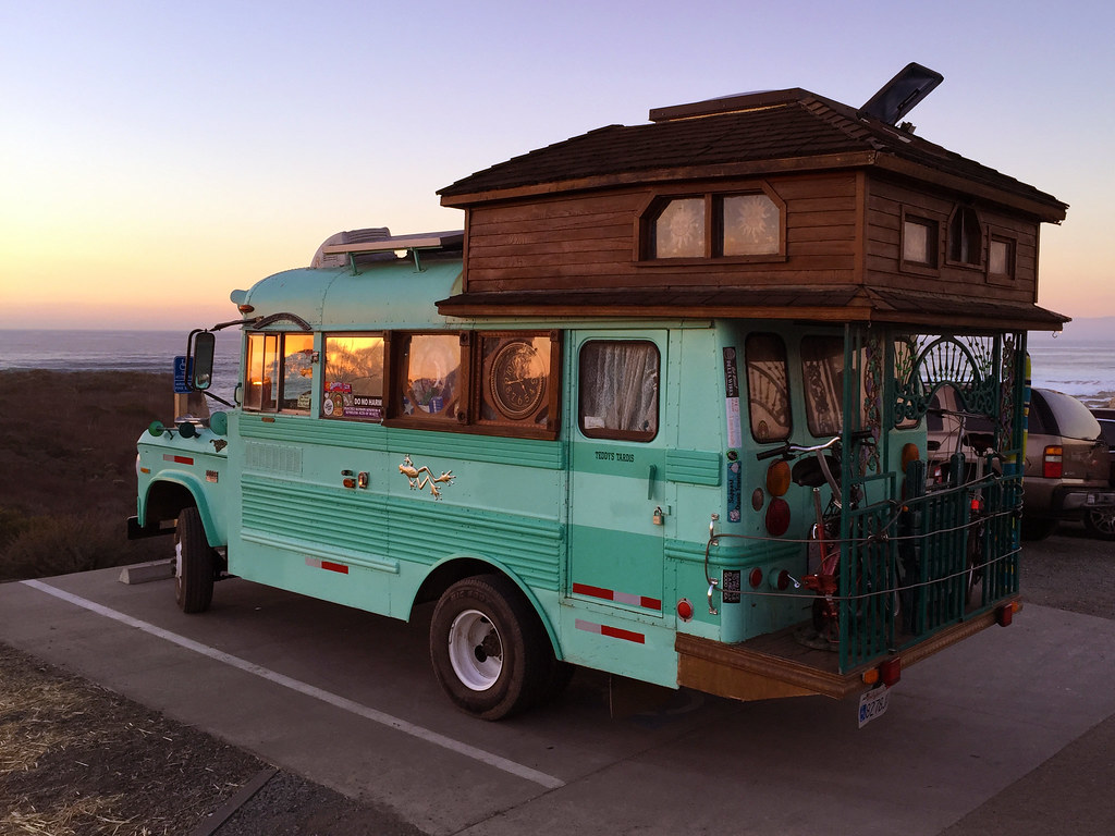 The Cool Bus And Sunset