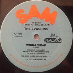 THE EVASIONS:WIKKA WRAP(LABEL SIDE-A)
