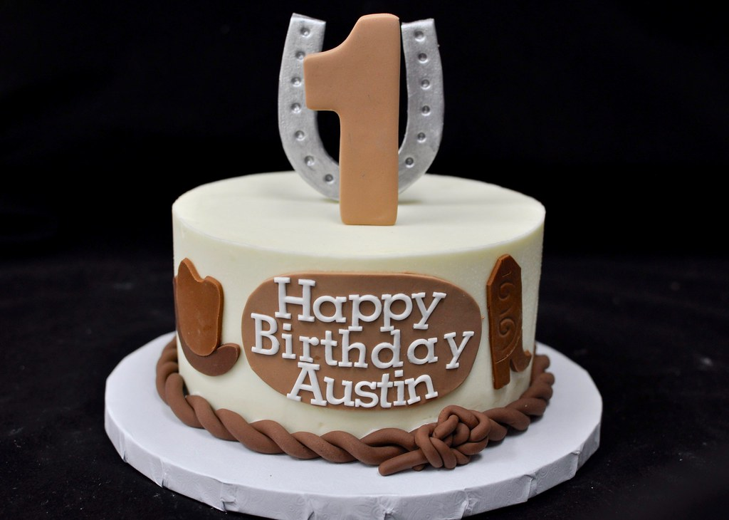 Cowboy Themed First Birthday Smash Cake Jenny Wenny Flickr