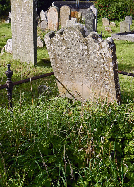 The cemetery at Glenarm Friary in Northern Ireland, UK