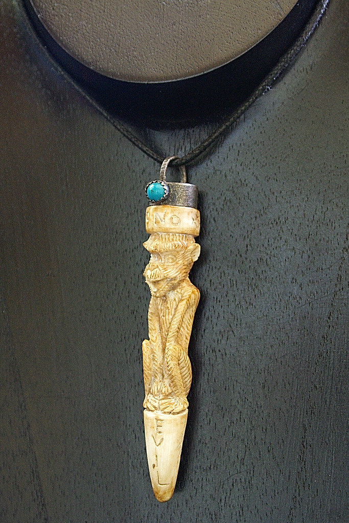 Do no evil carved bone monkey pendant sample photo of my w flickr do no evil carved bone monkey pendant by nutch bicer aloadofball Gallery