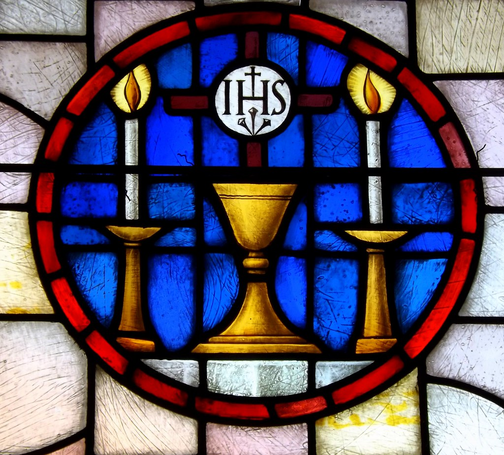 Former Epiphany Roman Catholic Church Stained Glass Window Chalice And Candles Detroit