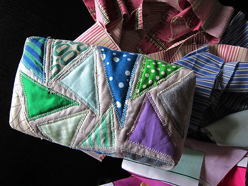 attack of the triangles zip pouch