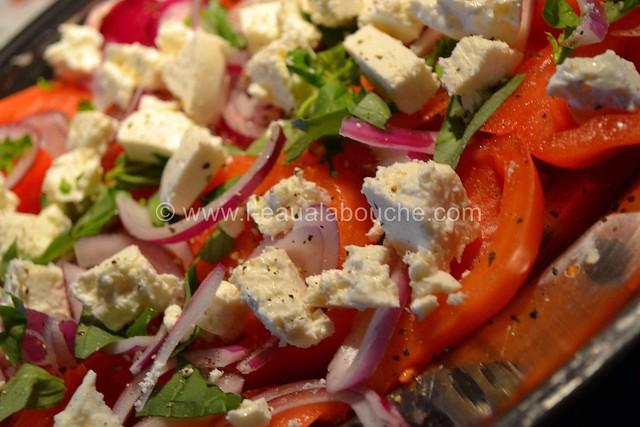 Salade de Tomates Oignons Rouges et Feta © Ana Luthi Tous droits réservés 004