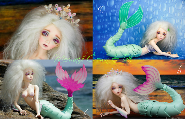 Mermaid Crown & tail collage