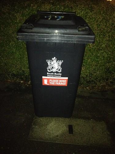 Please mind the Farage bin sticker - 72.1KB