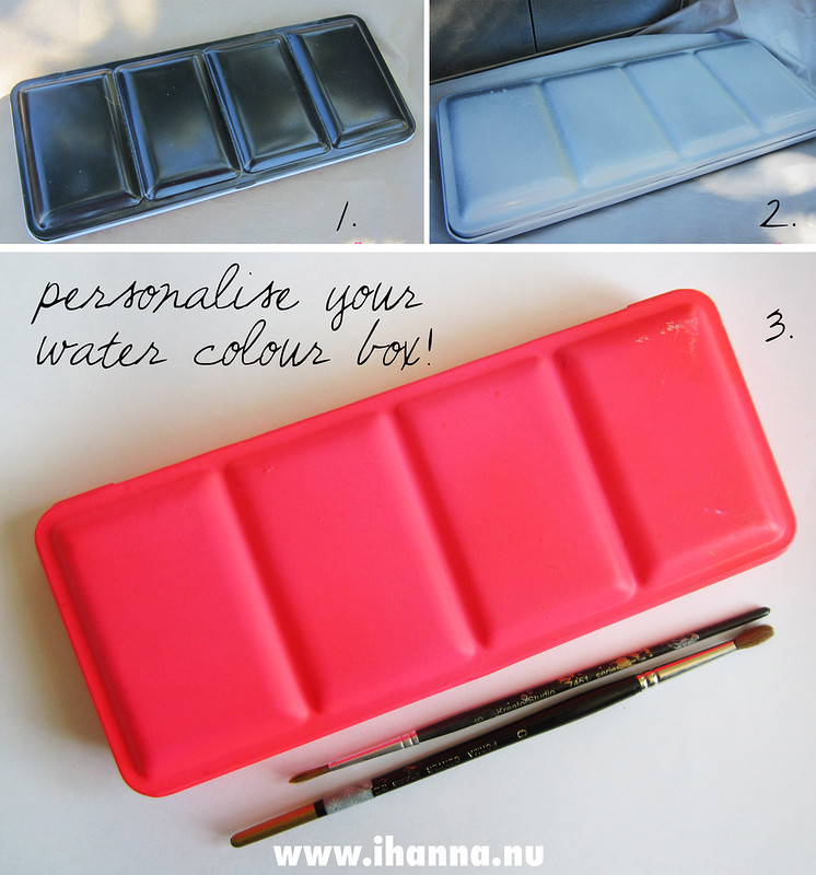 Personalize your water colour box // Personalize your water color box // Gör din akvarellåda mer personlig - tutorial by iHanna