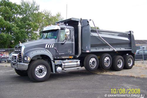 Mack Quad Dump Trucks : Mack gu quad axle dump trucks buses trains