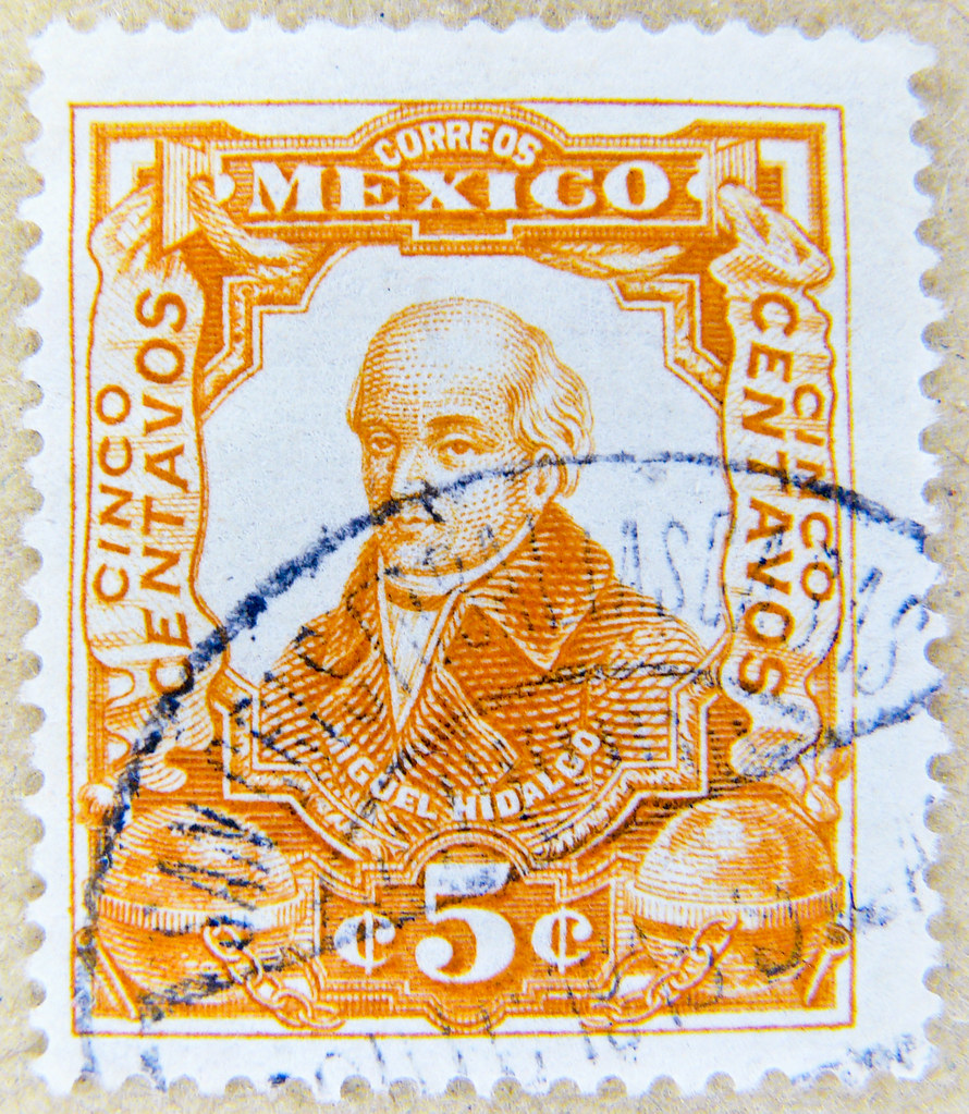 Resultado de imagem para selo de Miguel Hidalgo,