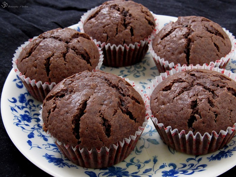 Kakaove mafiny s cokoladou