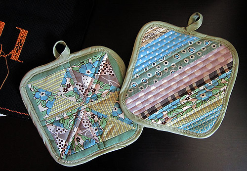 two harmless potholders
