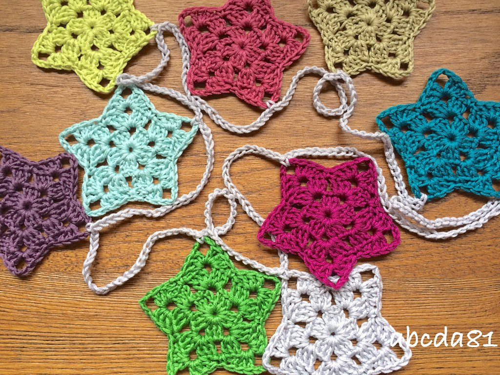 Granny Star Garland Granny Star Crochet Bunting Available Flickr
