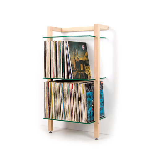 quadra schallplattenregal esche lp shelving ash tree wood by woodandmore - Schallplattenregal