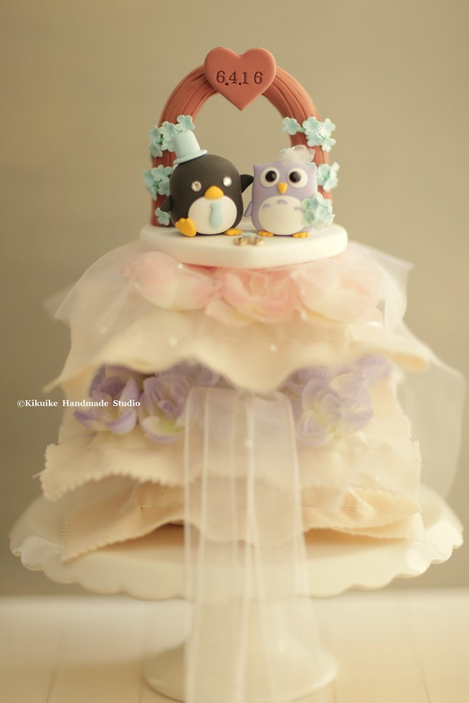 owl and penguin Wedding Cake Topper-love owl and penguin | Flickr