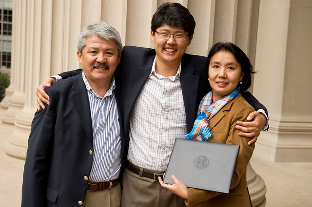 Patrick J. McGovern '59 Entrepreneurship Award winner, Erdin Beshimov G, and his family.