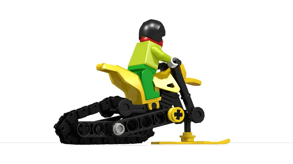 Lego Snowmobile Updated Version Modified Lego City Motor Flickr