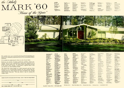 Scholz mark 39 60 house of the year house garden 1960 1 for Scholz home plans