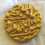 Gold Mohur Coin, Jaipur, Rajasthan, India, 1889