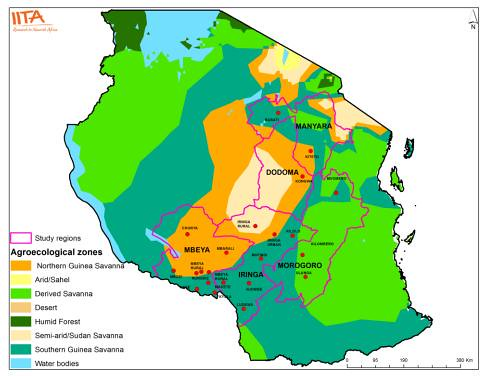 agroecological zones of Tanzania Photo credit IITAGIS Flickr