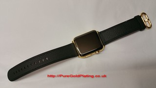 18ct Gold Plated Apple Watch Front | by PureGoldPlating