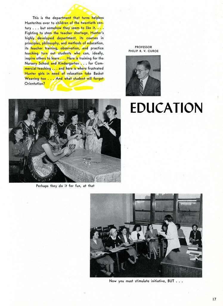 Education Department | The Wistarion, p  17, 1949, Archives