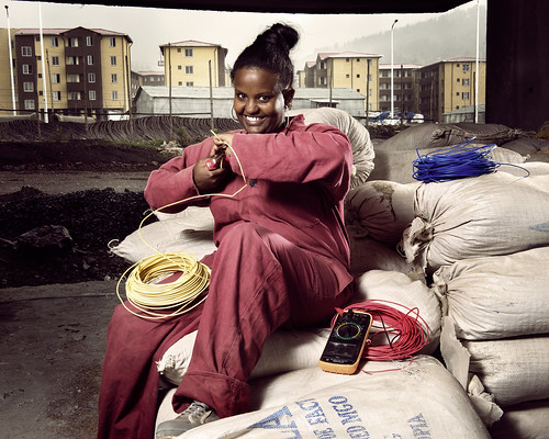 Merharriet s an electrician working at a 200-acre condominium development | by World Bank Photo Collection