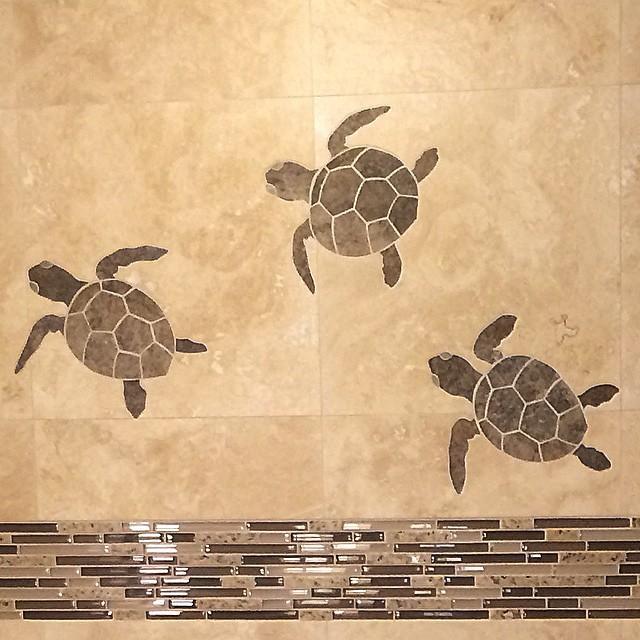 Greatest mosaic #tile #turtle #inlay #turkish #travertine #venitia… | Flickr RU98