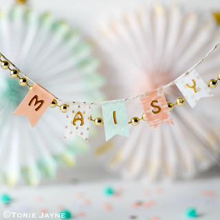 washi tape Bunting tags | by toriejayne