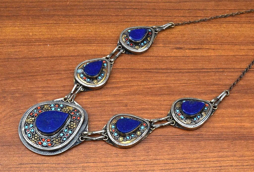Kuchi afghan necklace tribal necklace pendants turkmen flickr ethnic kuchi afghan necklace tribal necklace pendants turkmen necklace antique necklace ethnic aloadofball Gallery