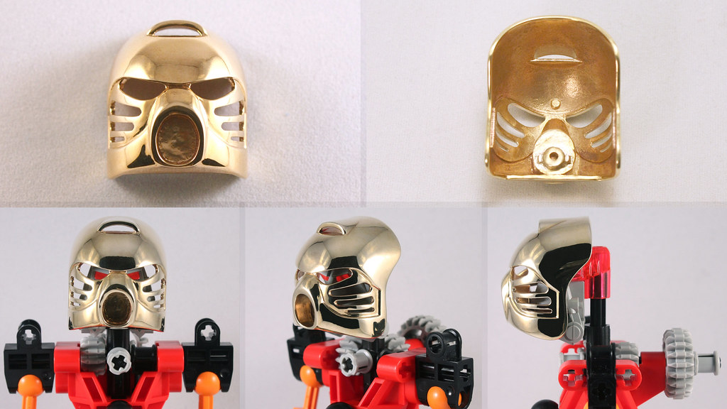 brass 3d printed kanohi hau it s really shiny 3d printed flickr