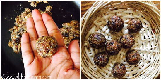 Dry Fruits Ladoo Recipe for Babies, Toddlers and Kids - step 5